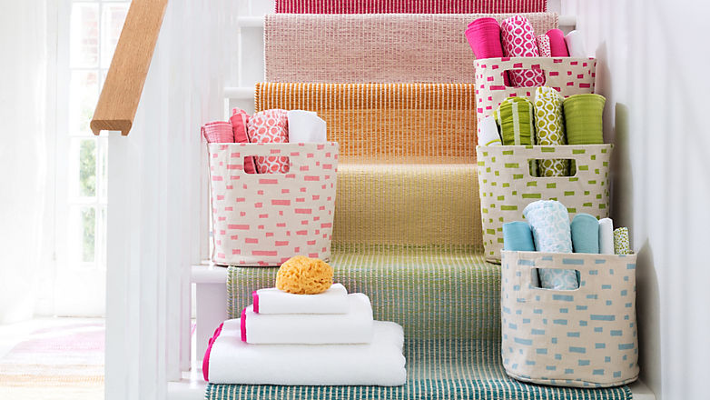 Linen Closet Organization: Color Coding   Annie Selke's Fresh American Style