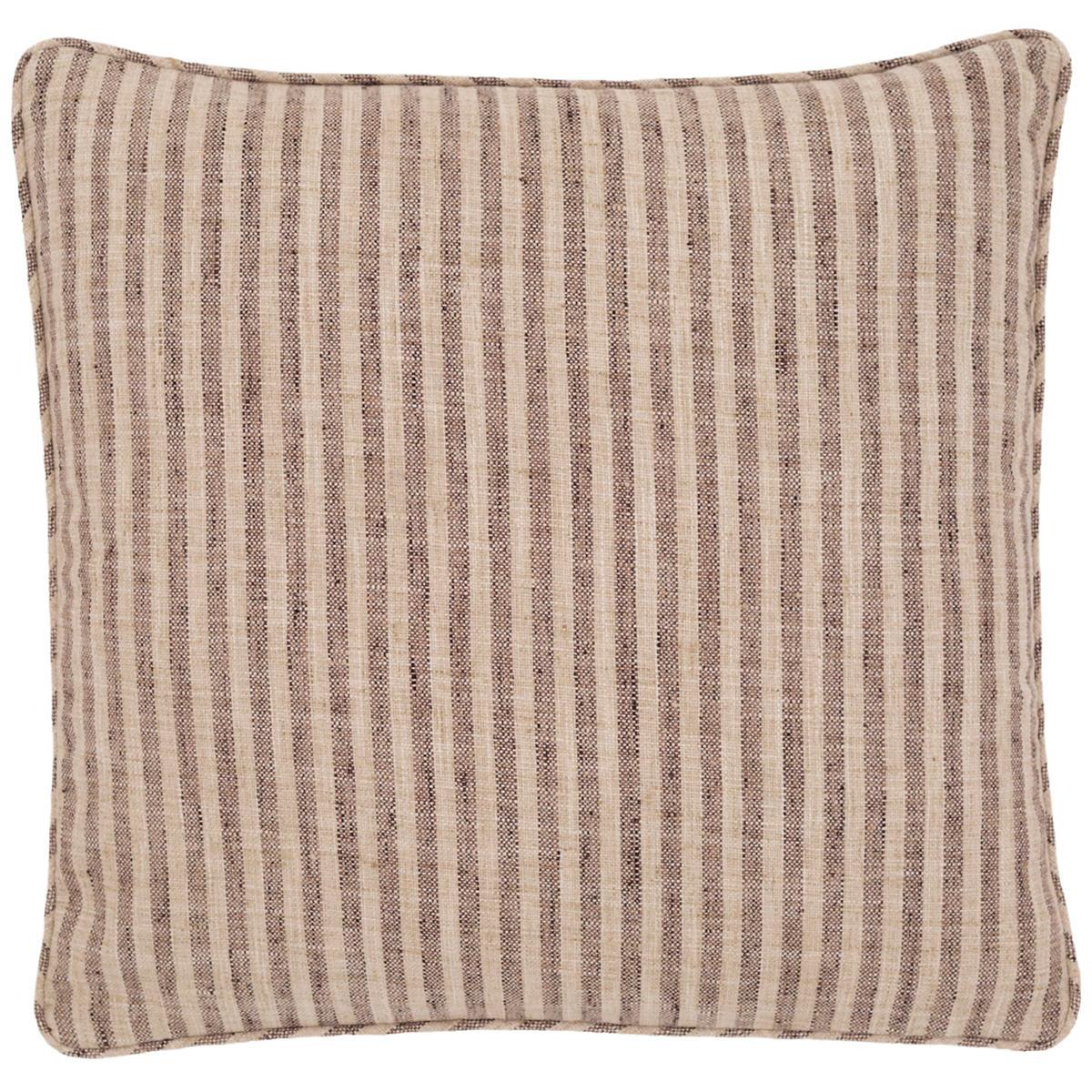 Adams Ticking Brown Indoor/Outdoor Decorative Pillow