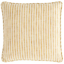 Adams Ticking Gold Indoor/Outdoor Decorative Pillow