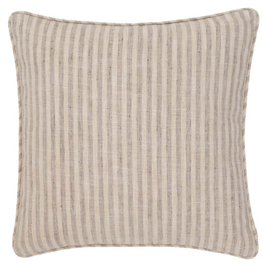 Adams Ticking Grey Indoor/Outdoor Decorative Pillow