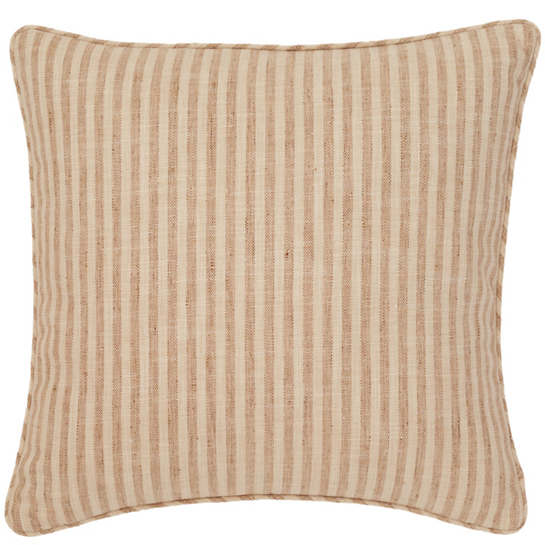 Adams Ticking Natural Indoor/Outdoor Decorative Pillow