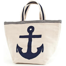 Fresh American Admiral Navy/Ivory Indoor/Outdoor Tote Bag