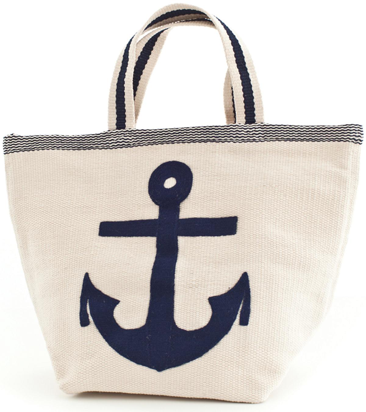 Admiral Navy/Ivory Indoor/Outdoor Tote Bag