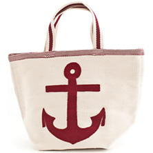 Admiral Red/Ivory Indoor/Outdoor Tote Bag