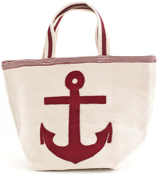 Fresh American Admiral Red/Ivory Indoor/Outdoor Tote Bag