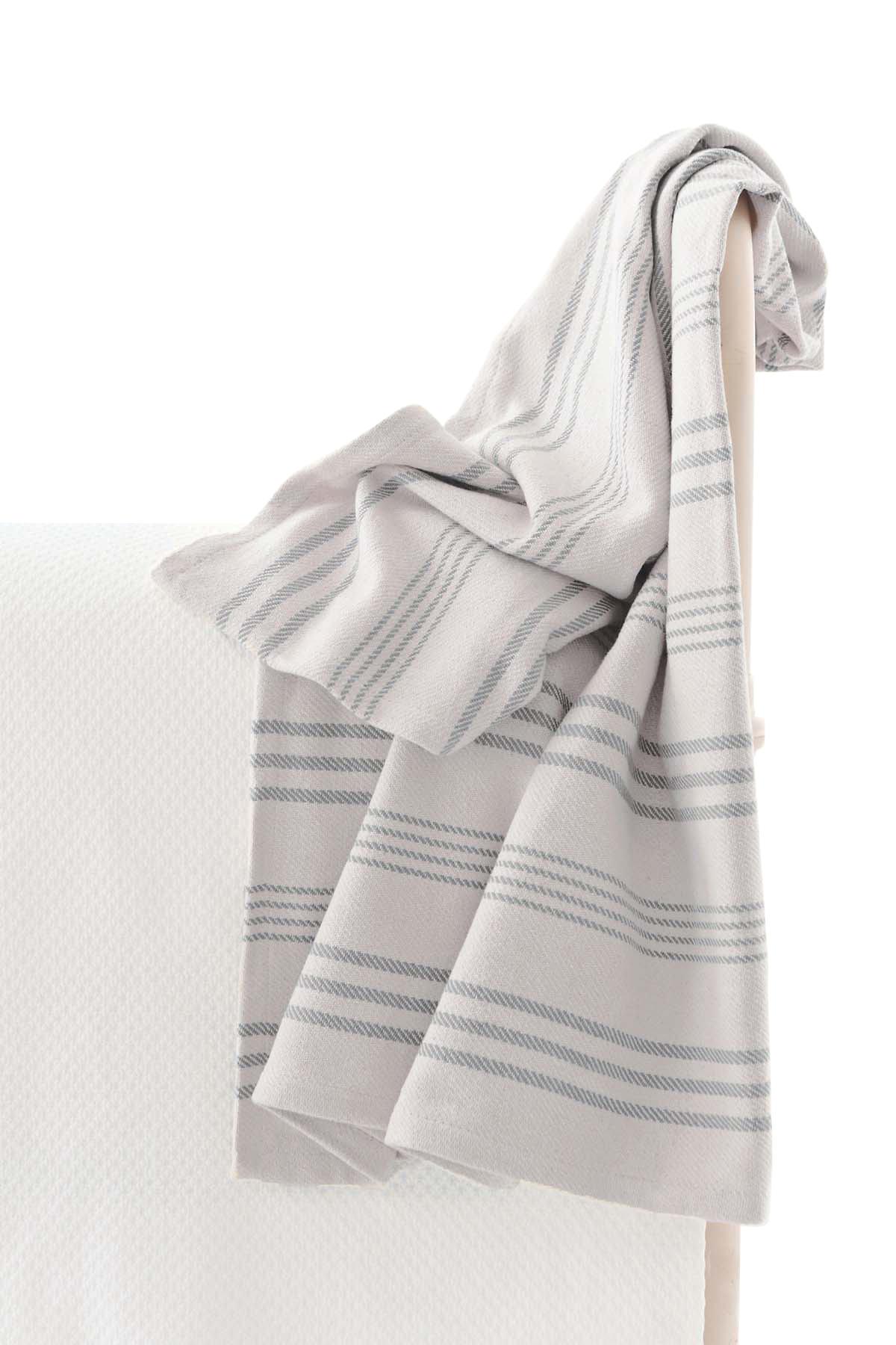 Aland Stripe Woven Cotton Throw