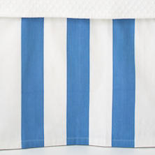 Alex French Blue Paneled Bed Skirt
