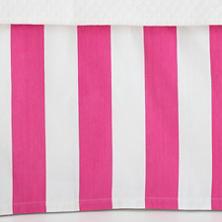 Alex Fuchsia Paneled Bed Skirt