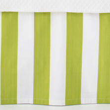 Alex Green Paneled Bed Skirt