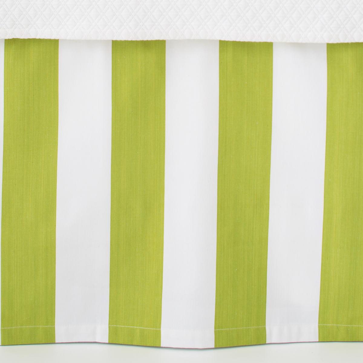 Alex Green Paneled Bed Skirt