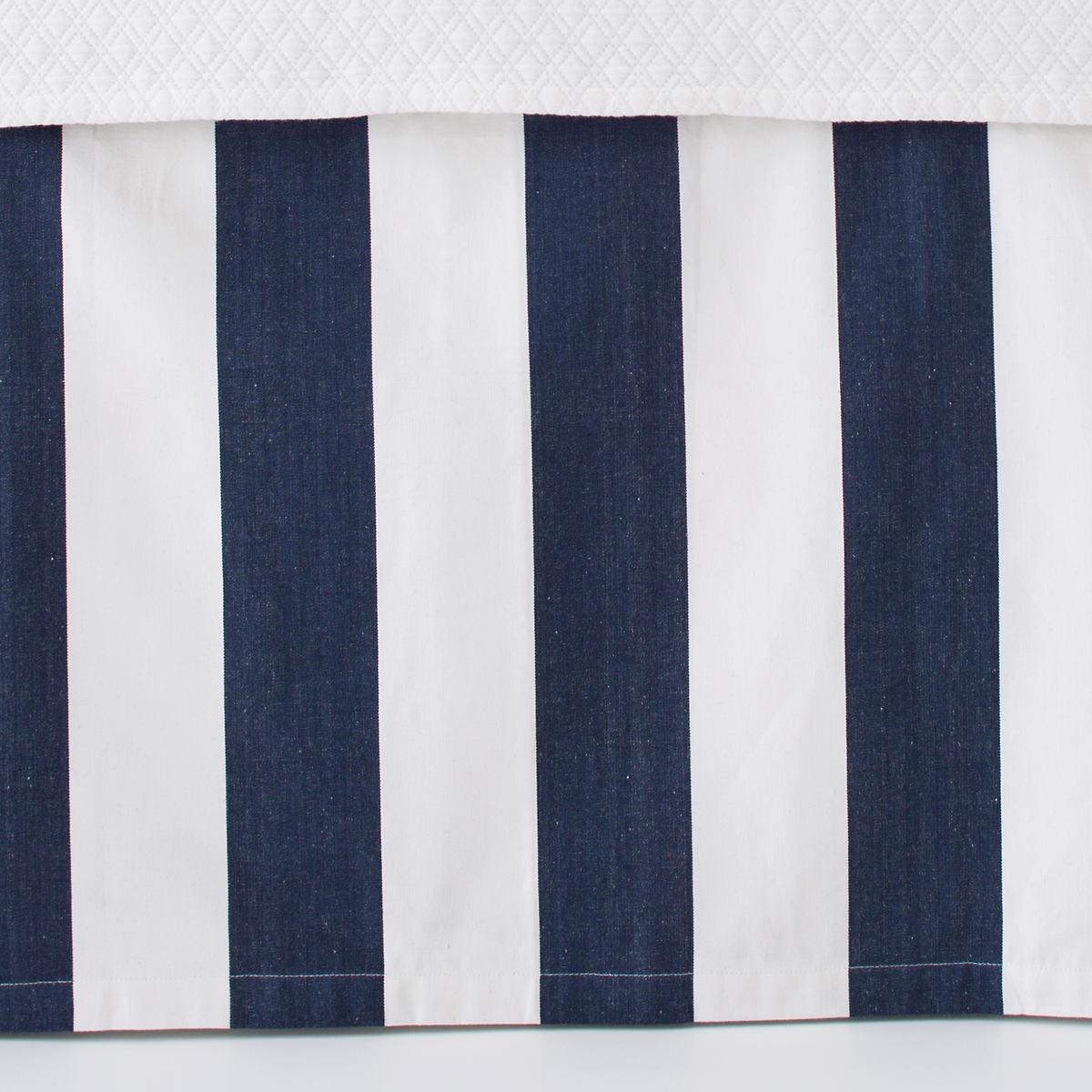 Alex Indigo Paneled Bed Skirt