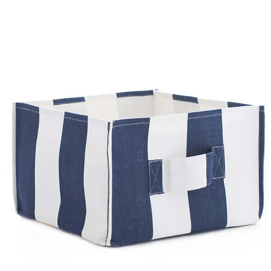 Alex Indigo Square Storage Bin
