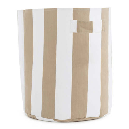 Alex Linen Round Storage Hamper