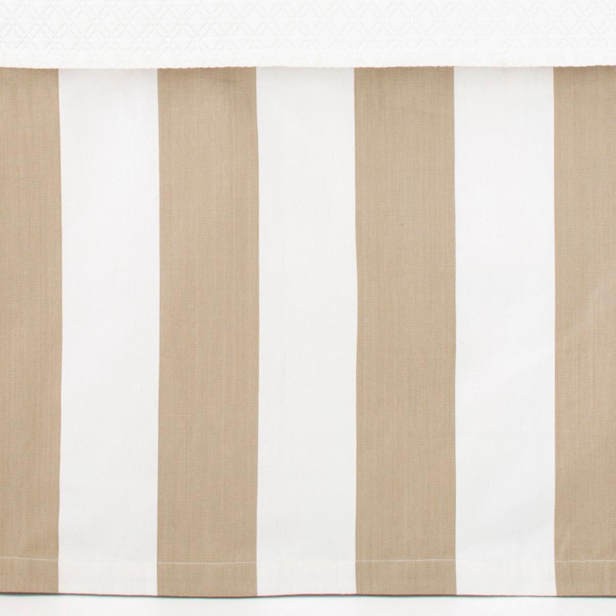 Alex Linen Paneled Bed Skirt