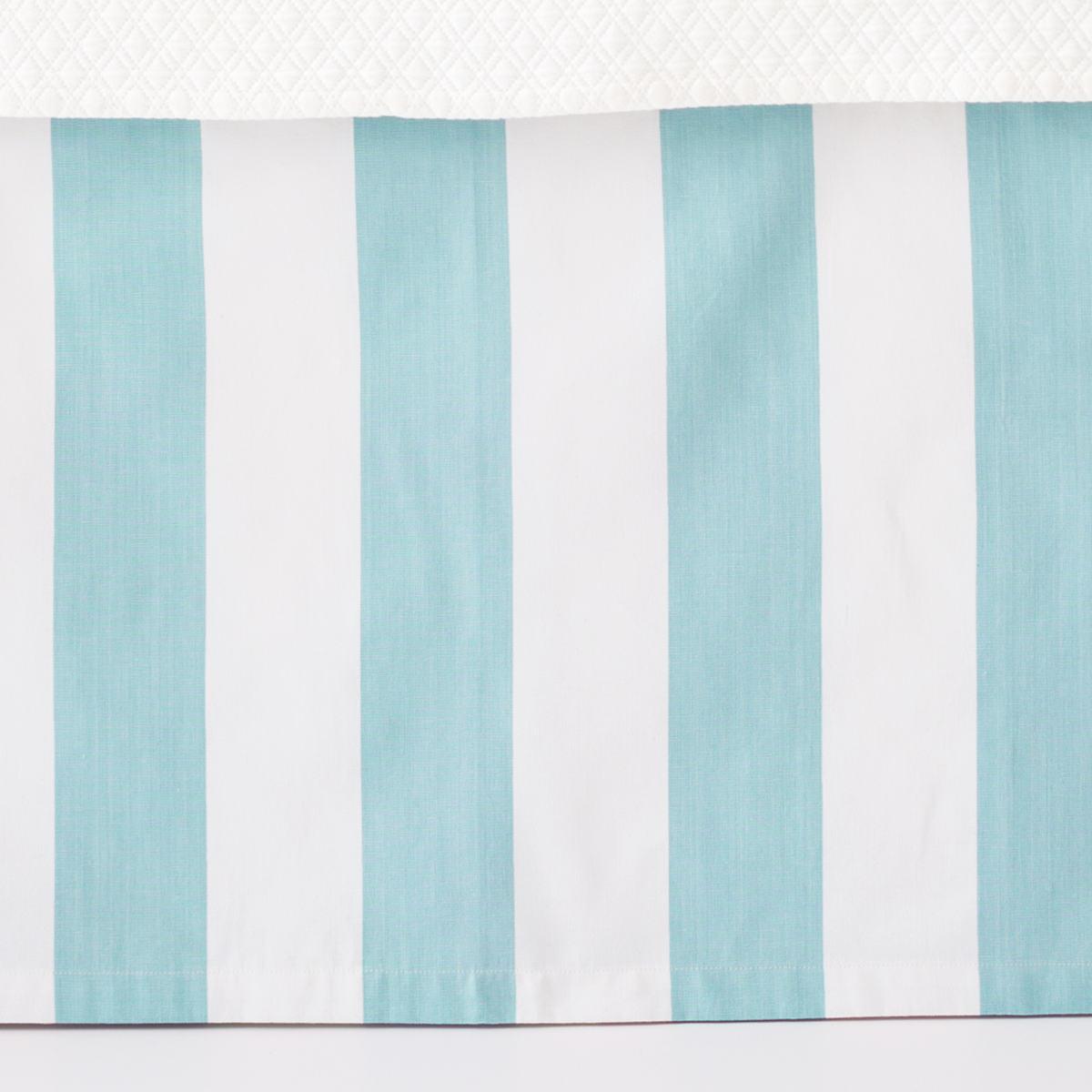 Alex Sky Paneled Bed Skirt