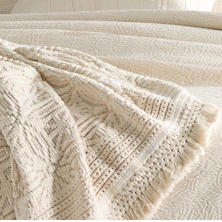 Anka Ivory Throw