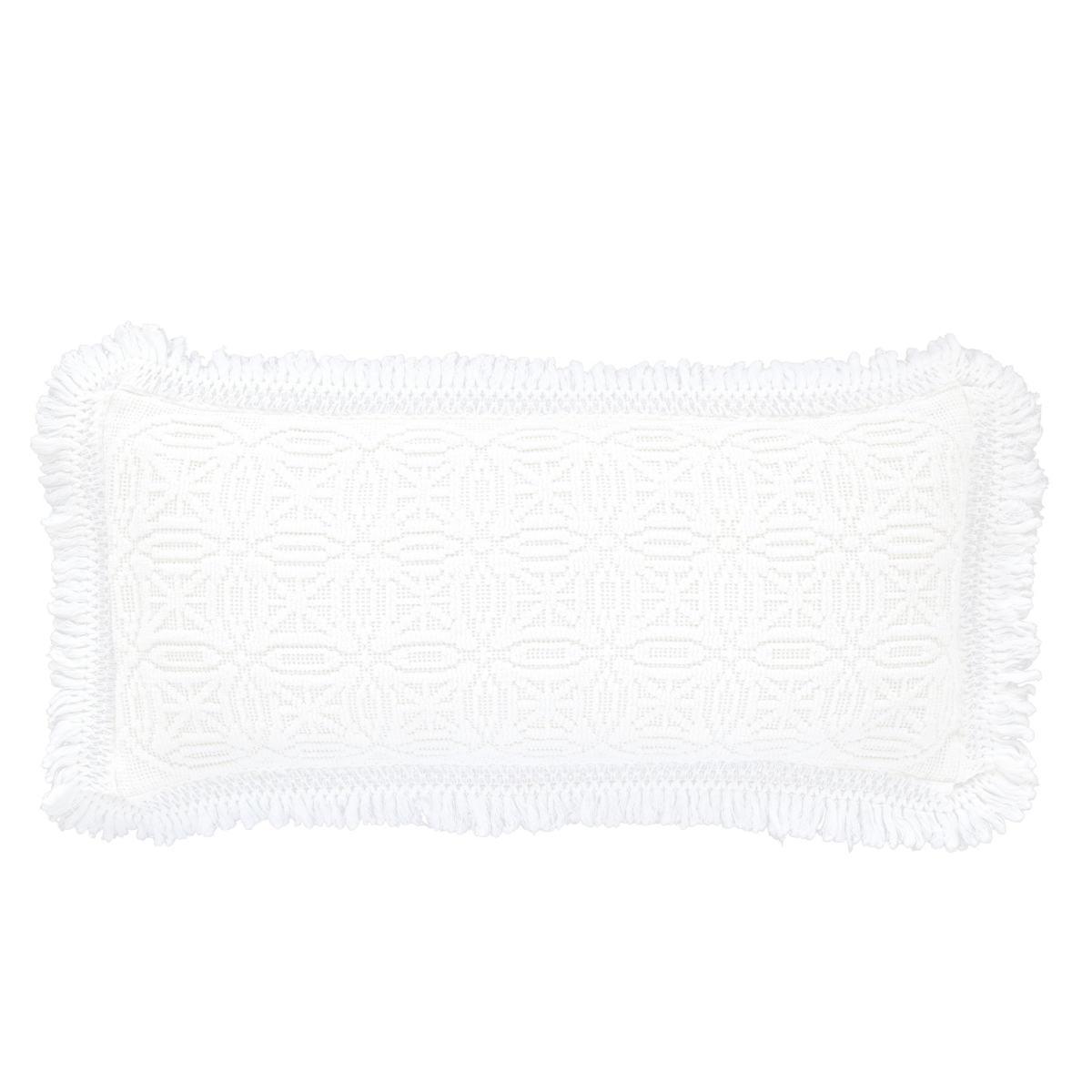 Anka White Decorative Pillow