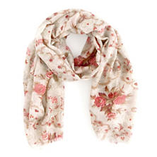 Antique Floral Scarf