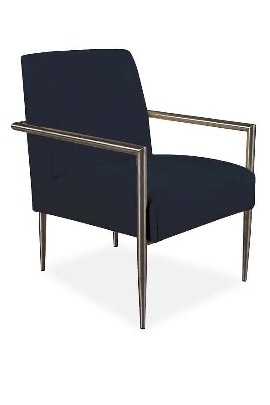 Armed And Stylish Outdoor Chair Navy Canvas