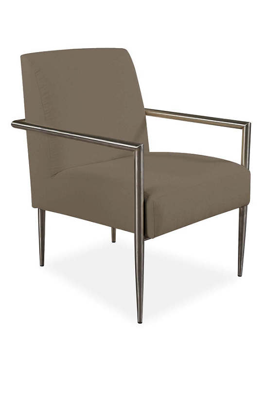 Armed And Stylish Outdoor Chair Platinum Canvas