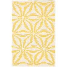 Aster Gold Wool Micro Hooked Rug