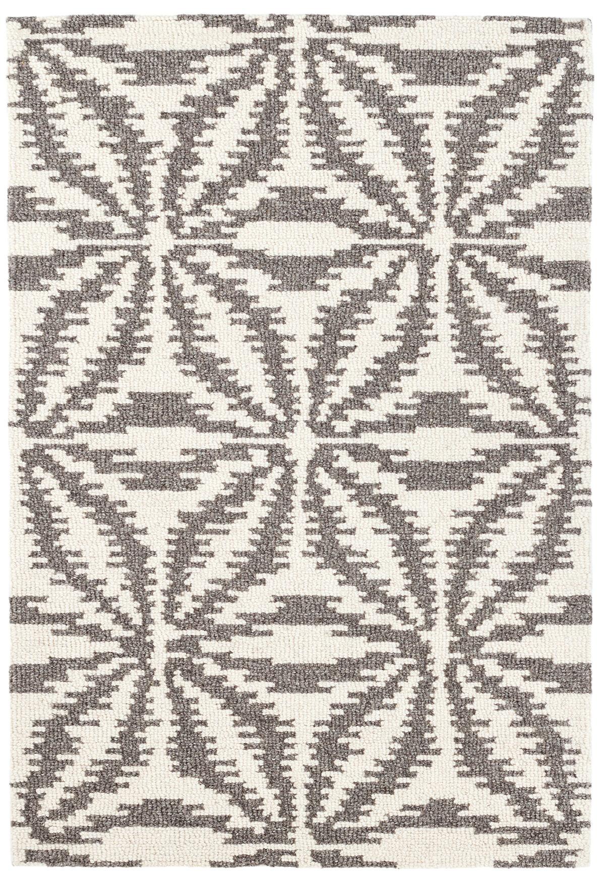 Aster Grey Wool Micro Hooked Rug