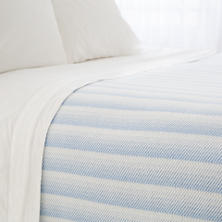 Avery French Blue Cotton Blanket