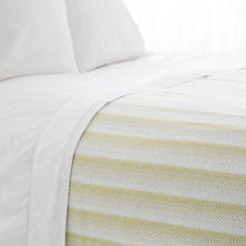 Avery Green Cotton Blanket