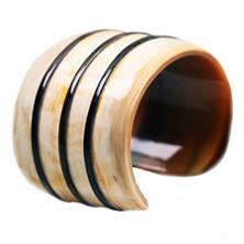 Banded Horn Cuff