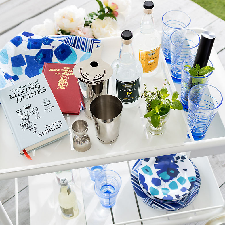 How To Stock a Summer Bar Cart | Annie Selke's Fresh American Style