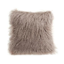 Bark Longwool Tibetan Sheepskin Decorative Pillow