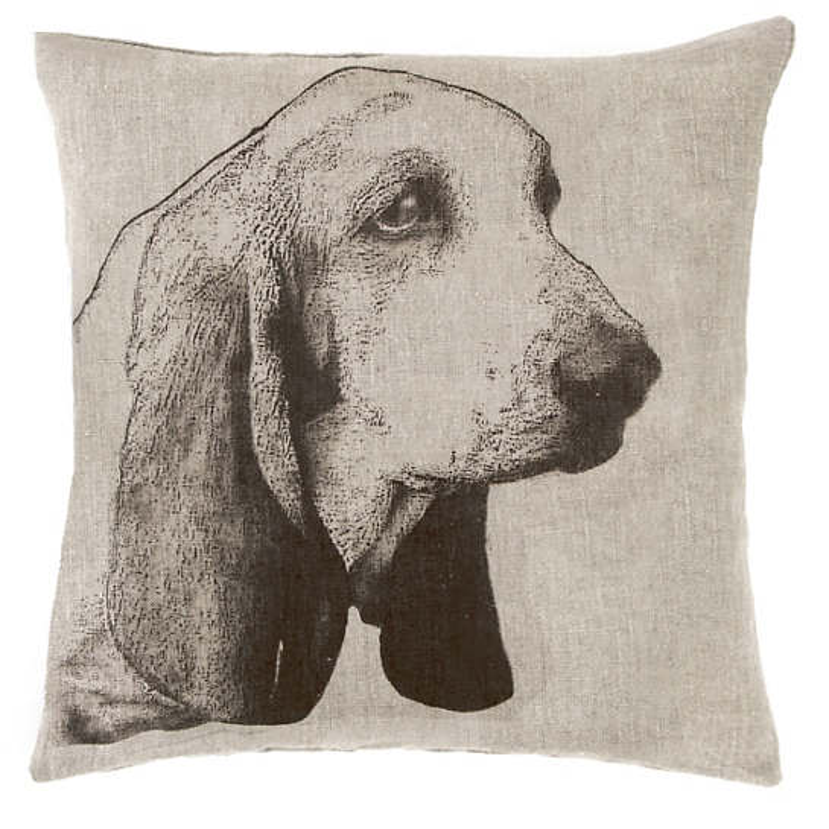 Basset Natural Decorative Pillow