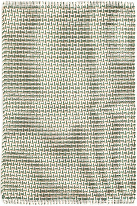 Baxter Green Woven Cotton Rug