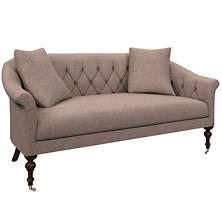 Canvasuede Heather Becket Loveseat