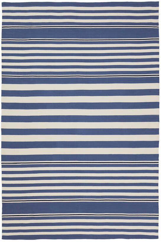 beckham stripe denim indoor outdoor rug dash albert