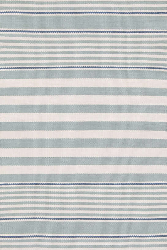 Beckham Stripe Light Blue Indoor/Outdoor Rug
