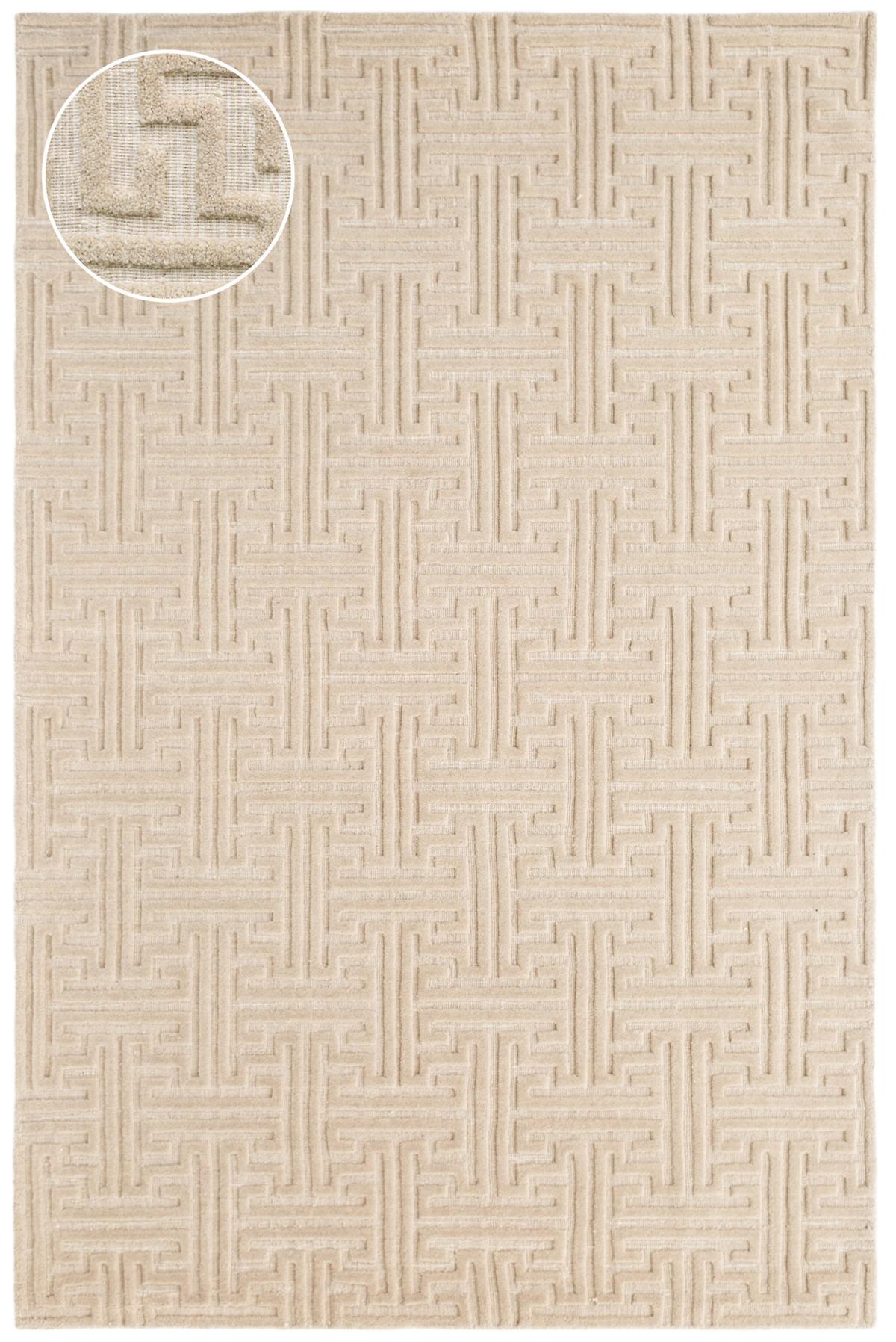 Beekman Sandstone Jacquard Loom Knotted Rug