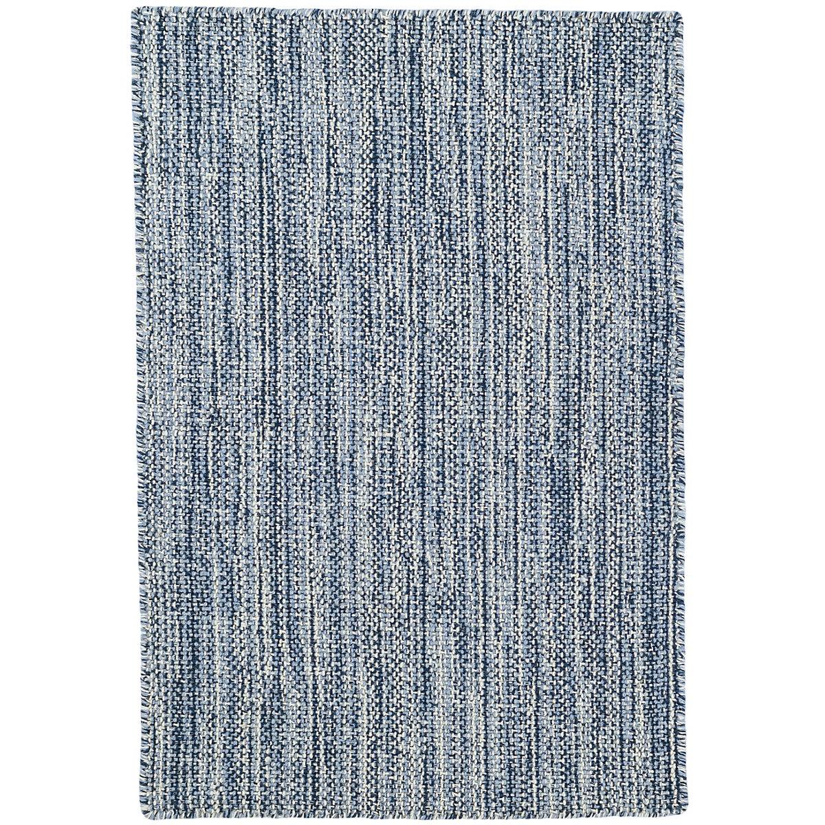 bella navy woven wool rug  dash  albert -