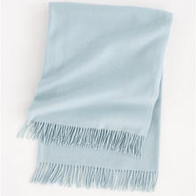 Bellissima Cashmere Pearl Blue Throw