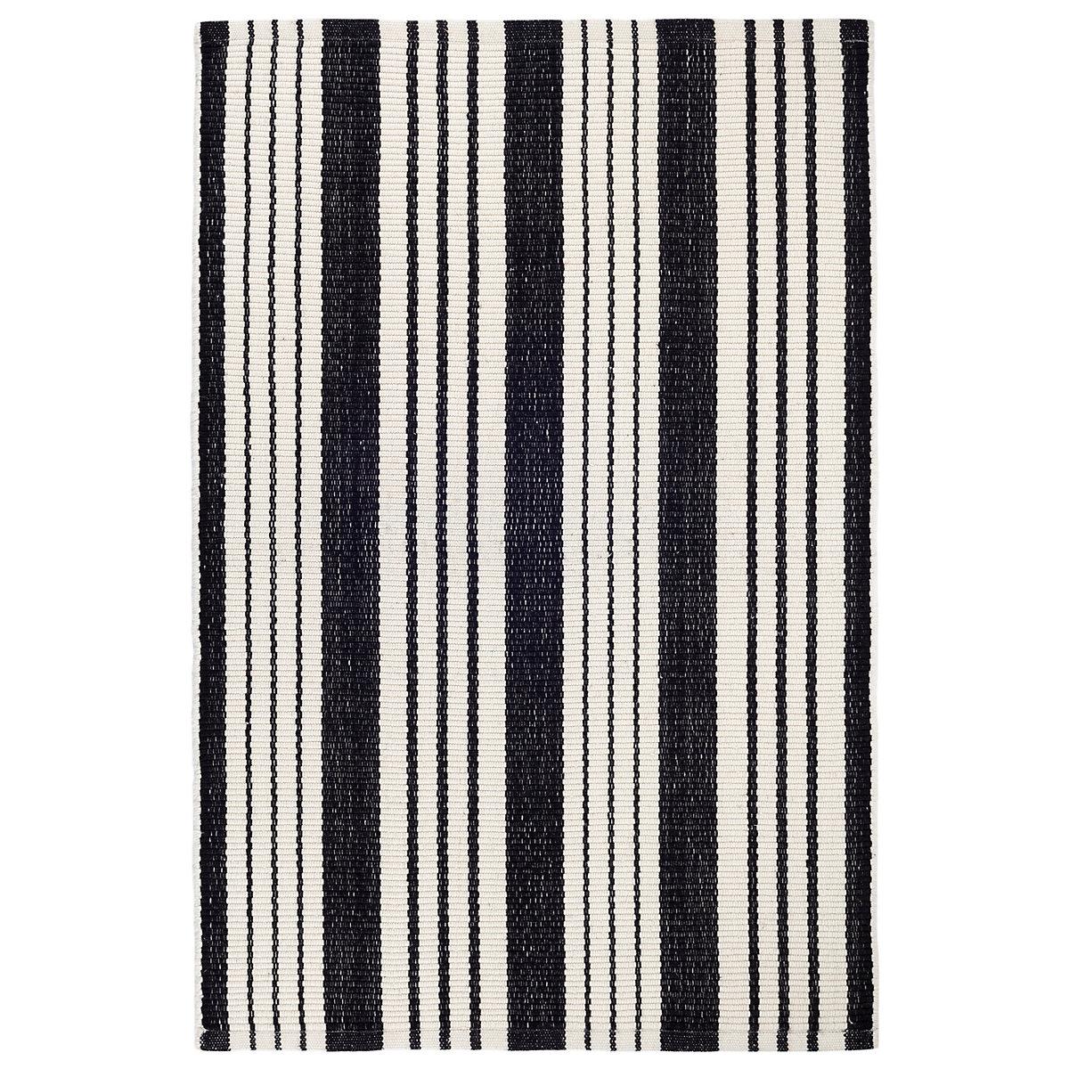 birmingham black woven cotton rug  dash  albert -
