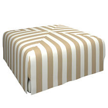 Alex Linen Blake Mitered Slipcovered Ottoman