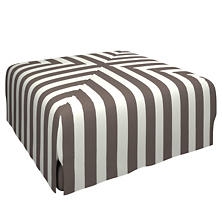 Alex Shale Blake Mitered Slipcovered Ottoman