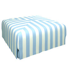 Alex Sky Blake Mitered Slipcovered Ottoman
