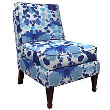 Block Floral Linen Blue Eldorado Chair
