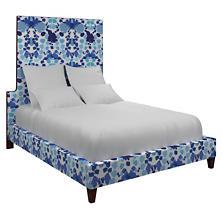 Block Floral Blue Regency Bed