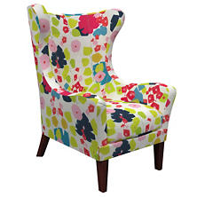 Block Floral Bright Mirage Tobacco Chair