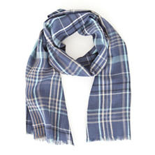 Blue Jay Plaid Scarf