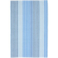 Blue Sky Ticking Woven Cotton Rug