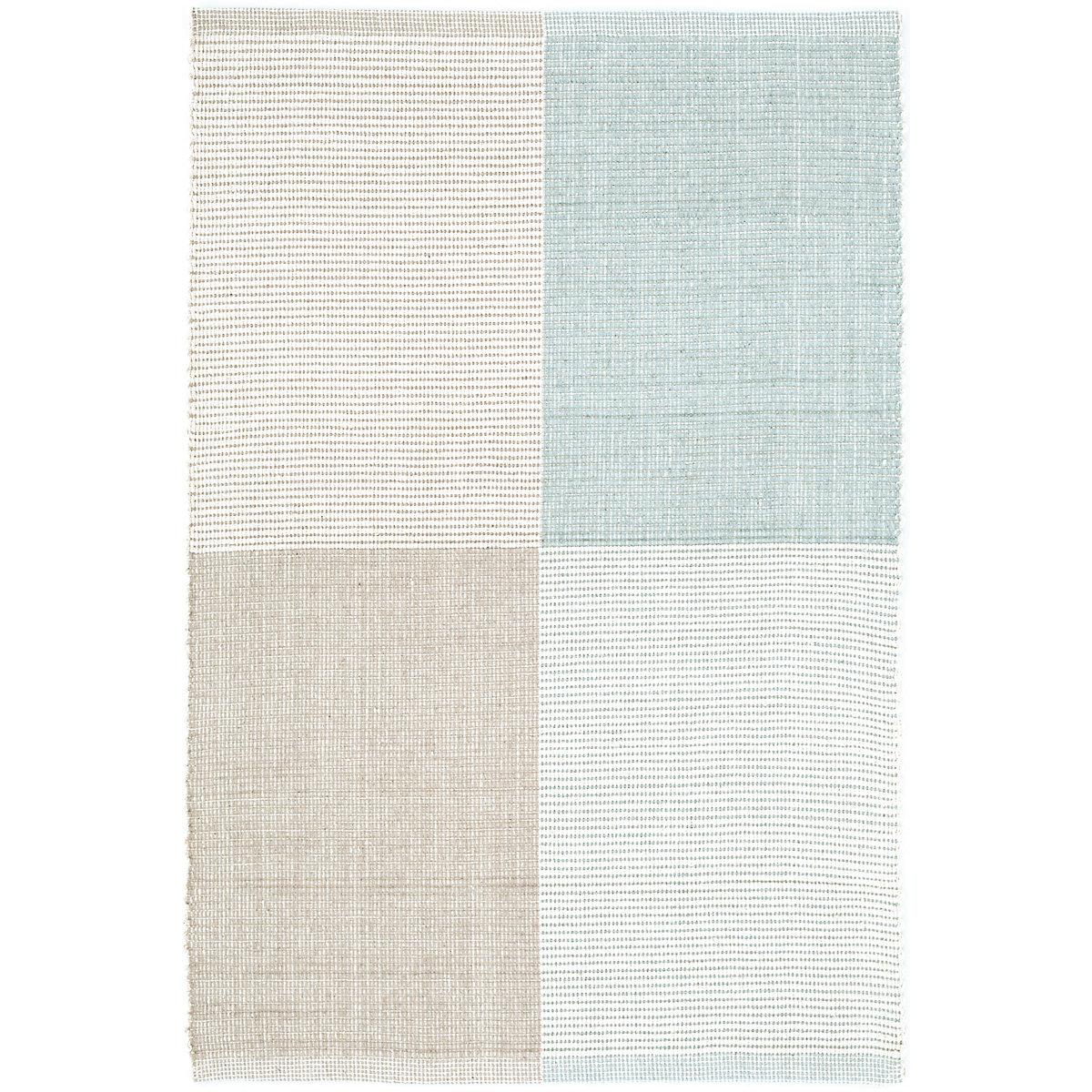 Bo blue woven cotton rug dash albert for Dash and albert blankets
