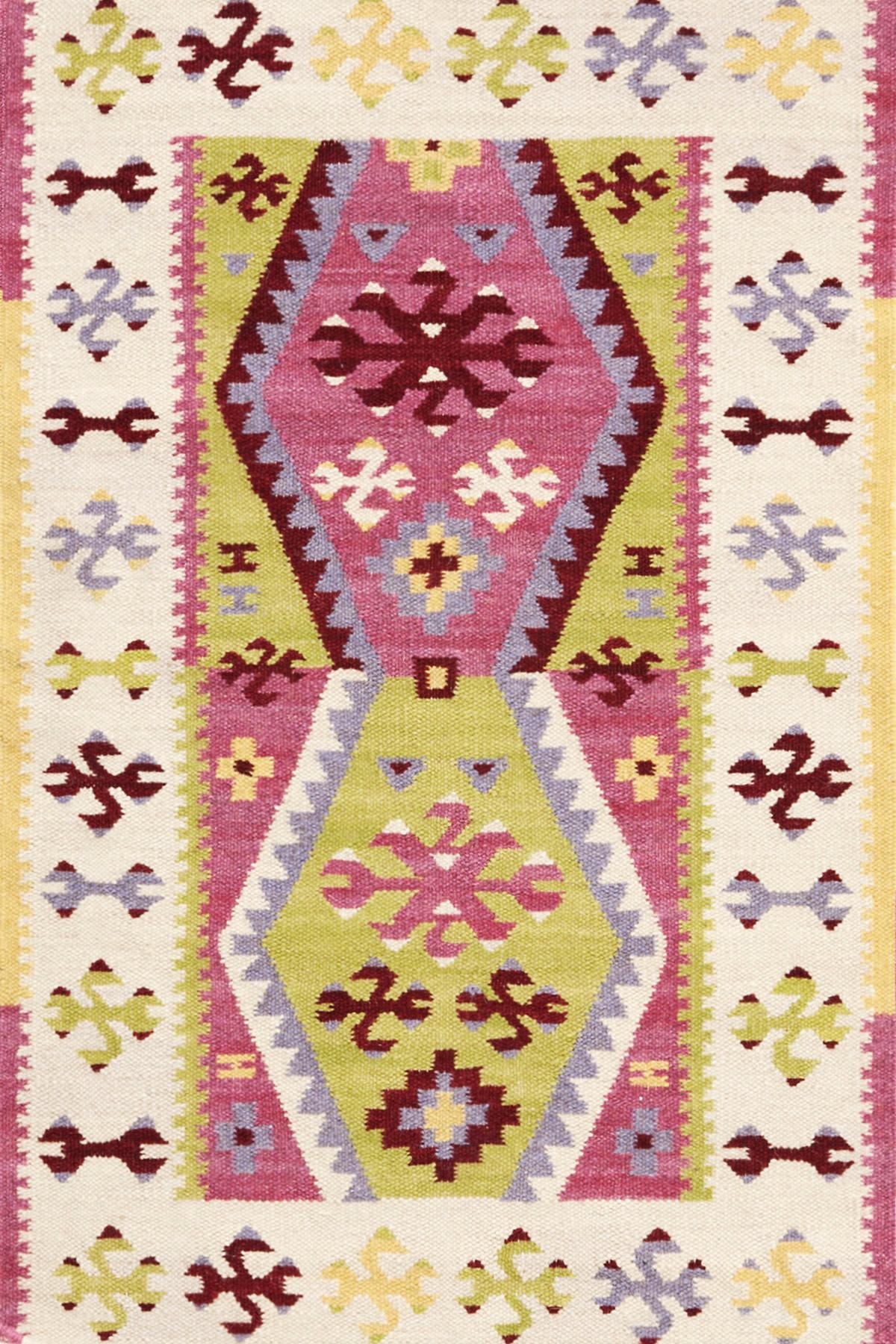 Bohemian Wool Woven Rug